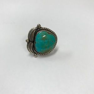 Genuine sterling silver and turquoise ring